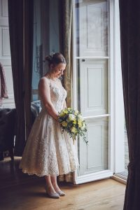 bride preparing for celebrant ceremony